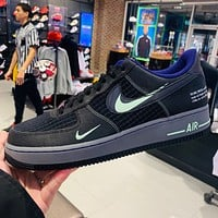 Nike Air Force 1 Colorblock Double Hook Casual Low Top Sneakers Shoes