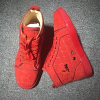 Cl Christian Louboutin Suede Style #2226 Sneakers Fashion Shoes
