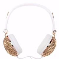RHINESTONES BLING HEADPHONES
