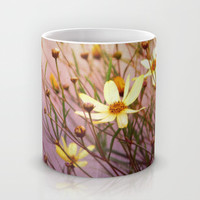yellow flowers Mug by Sylvia Cook Photography