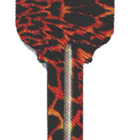 Tiger Print House Keys