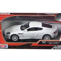 Aston Martin DB9 Coupe White 1-24 Diecast Car Model by Motormax