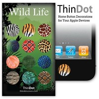 ThinDot Home Button Stickers for iPod/iPhone/iPad - Wild Life
