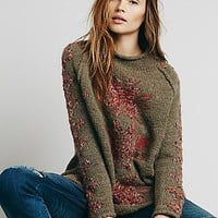 Free People Womens Snowflake Reflection Pullover