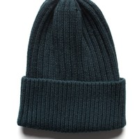 Glitter Knit Beanie - Hunter Green