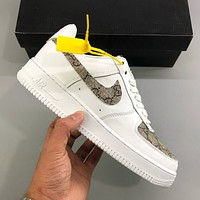 GUCCI x Nike Air Force 1 low-top flat sports casual shoes sneakers shoes