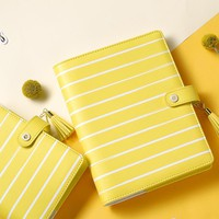 Lovedoki 2017 Spring Sunflower Yellow Notebook Personal Diary Macaron Planner 2017 Dokibook A5a6 Planner Office School Supplies