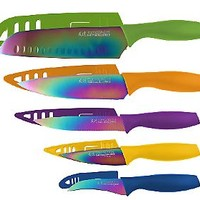 Hampton Forge Tomodachi Titanium 5 Pc Cutlery Set — QVC.com