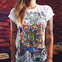 Printed color T-shirt