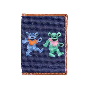 Dancing Bears Needlepoint Passport Case by Smathers & Branson