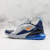 Nike Air Max 270 Grey Navy Running Shoes - Best Deal Online