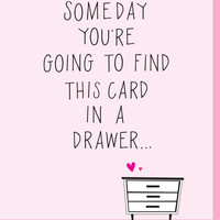 Find Card in a Drawer Valentine's Day Card