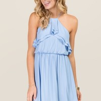 Maija Ruffle A-line Dress
