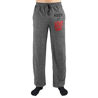 Keep It 100 Print Mens Loungewear Lounge Pants