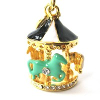 Carousel Merry Go Round Pendant Necklace   Limited Edition Jewelry