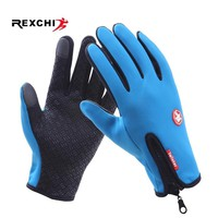 REXCHI Outdoor Sports Cycling Gloves Windproof Touchscreen Bike Bicycle Glove Skiing Winter Motorcycle Racing Riding Equipment