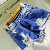 Fashion Women Vintage Denim High Waist Jean Mini Hole Shorts HOT Pants