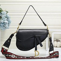 Dior Women Fashion Crossbody Satchel Saddle Bag