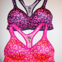 Victorias Secret PINK Yoga Push-up Sports Bra w/ Hearts BNWT