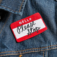 Adam J. Kurtz Please Stop Patch - Urban Outfitters