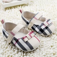 Plaid Baby Girl Shoes