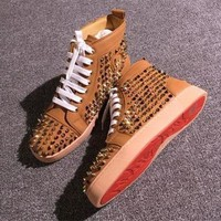 PEAPNW6 Cl Christian Louboutin Louis Spikes Style #1853 Sneakers Fashion Shoes