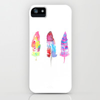 DANCING WITH FEATHERS  iPhone & iPod Case by Lauren Lee Designs