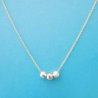 Two tone, Sterling silver, Marble, Icing, Beads, Gold, Chain, Necklace