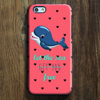 Let The Sea Get You Free Dolphin iPhone 6 Case/Plus/5S/5C/5/4S Protective Case #723