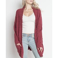 Final Sale - Dreamers - Popcorn Yarn Oversized Cardigan in More Colors