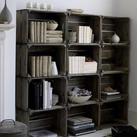 Crate Storage Bookshelf bookcase Made to by CamilleMontgomery