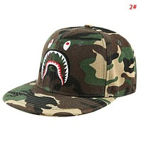 Bape Aape Fashion New Embroidery Shark Eye Sun Protection Camouflage Women Men Cap Hat 2#