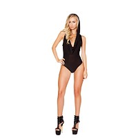 Roma Rave 3290 - Hooded Romper with Slimmed Open Back Detail