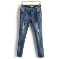Summer Ripped Holes Pants Jeans [6332323588]