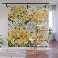Wordsworth and the daffodils. Wall Mural by anipani