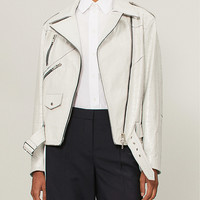 GIVENCHY Crinkled leather jacket