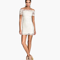 Off-the-shoulder Lace Dress - from H&M