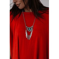 Leave the Light On Necklace - Turquoise