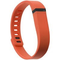 Fitbit Flex Replacement Wrist Band With Clasps Size Small - Orange