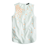 J.Crew Womens Scattered Floral Sequin Shell
