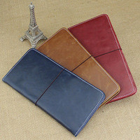Pleasing Synthetic Leather Trip Passport Cover ID Card Cash Holder Wallet Case