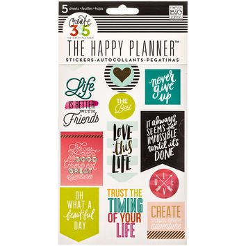 Life Quotes Create 365 Happy Planner Stickers | Hobby Lobby | 1240365