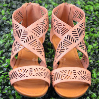 Isle of Sun Nude Strappy Cutout Sandal-OUT OF BOX