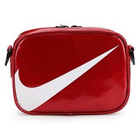 NIKE Tide brand fashion mini mountaineering shoulder Messenger bag Red