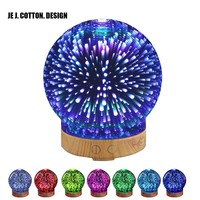 100ML 3D Aroma Diffuser Aromatherapy Essential Oil Diffuser for home Humidificador Ultrasonic Air Humidifier with Night Lamp