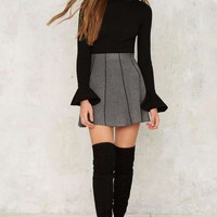 Put It in Your Pipeline Mini Skirt