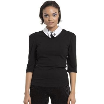Cat Collar Fitted Top