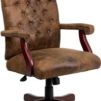 Bomber Brown Classic Executive Swivel Office Chair