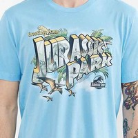 Jurassic Park Greetings Tee- Sky