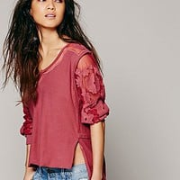 Free People Womens FP New Romantics Tropicali Tee